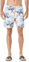 Cubavera Full Elastic Floral Print Swim Short