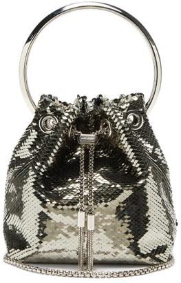 Jimmy Choo Bonbon Sequinned Clutch Bag - Silver