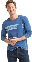 Gap Indigo chest-stripe long sleeve tee
