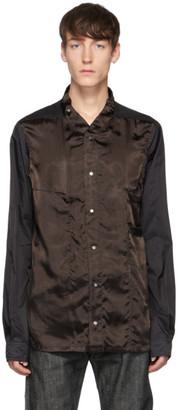 Rick Owens Black and Brown Faun Shirt
