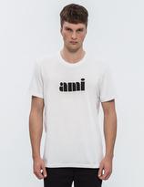 Ami Printed Crew Neck S/S T-Shirt