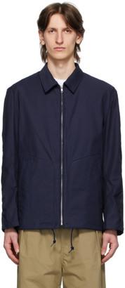 Comme des Garçons Homme Navy Twill Camo Pattern Jacket