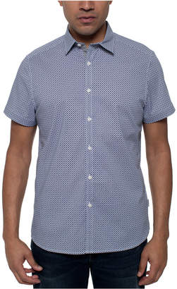 Kenneth Cole Men Stretch Diamond Geo-Print Shirt