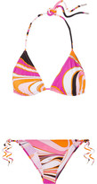 Emilio Pucci Libellula Printed Triangle Bikini - Pink