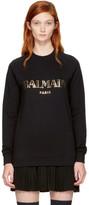 Balmain Black Logo Sweatshirt