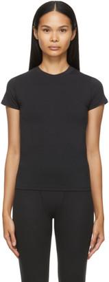 SKIMS Black Cotton T-Shirt