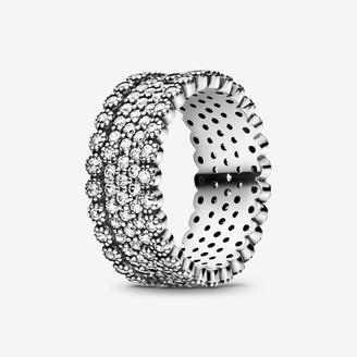 Pandora Sparkling Pave Band Ring