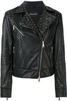 Emporio Armani studded leather jacket
