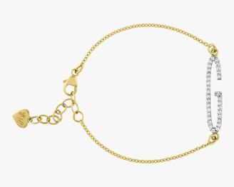 Eden Presley Elongated Diamond Initial Bracelet