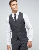Jack & Jones Premium Slim Waistcoat In Fleck