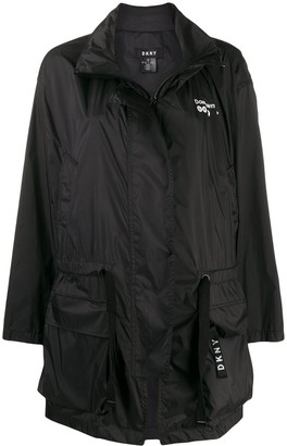 DKNY Drawstring Waist Raincoat
