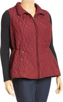 Weatherproof Mulberry Diamond Quilt Vest - Plus