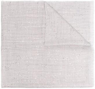 Brunello Cucinelli Silk-Cashmere Blend Sequinned Scarf