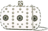 Alexander McQueen Skull box clutch - women - Leather/Metal (Other) - One Size