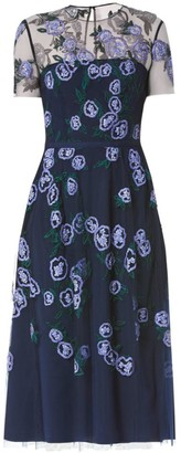 Carolina Herrera Embellished Floral Midi Dress