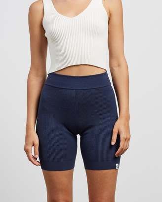 Mcintyre - Women's Navy Hot Pants - Sol Knitted Biker Shorts - Size One Size, XS at The Iconic