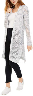 Hooked Up by Iot Juniors' Pointelle Cardigan
