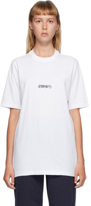 Vetements White Written Logo T-Shirt