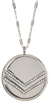 Jessica Simpson Crystal Chevron Detail Round Pendant Necklace