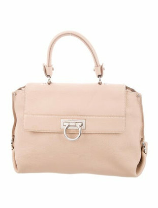 Salvatore Ferragamo Leather Sofia Bag Silver