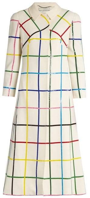 Mary Katrantzou Benatar grid-print wool coat
