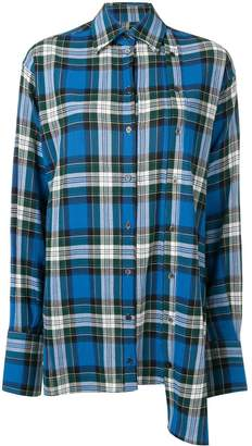 Rokh oversized plaid shirt