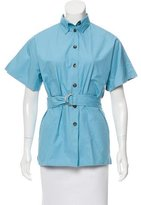 Celine Belted Button-Up Top