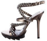 Camilla Skovgaard Metallic Chain-Link Sandals