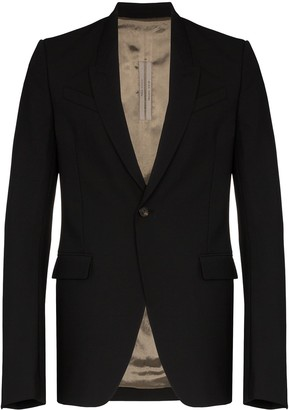 Rick Owens Tatlin single-breasted blazer