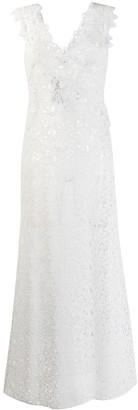 Ermanno Scervino Long Embroidered Floral Dress