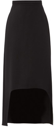 Alexander McQueen Dip-hem Wool Skirt - Black