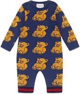 Gucci Baby bear jacquard sleepsuit