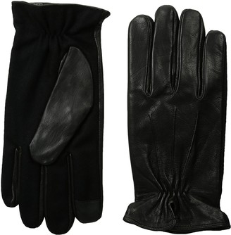 GII Men's Fine Leather and Wool Blend Touchscreen Gloves
