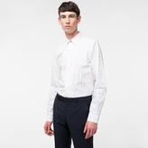 Paul Smith Men's Slim-Fit White 'Hand-Drawn Botanical' Print Cotton Shirt