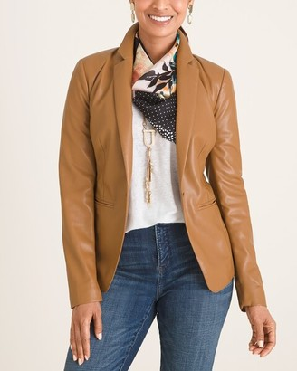 Chico's Faux-Leather Blazer