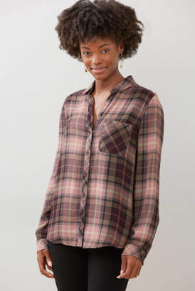 BeachLunchLounge Charley Maker's Mark Plaid Button Down Shirt Multi S