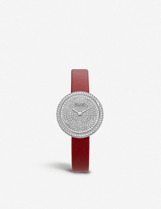 Piaget G0A44098 Possession 18ct white-gold, 2.35ct diamonds and leather quartz watch
