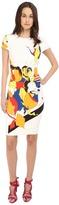 Prabal Gurung Multi Floral Lace Print Short Sleeve Dress Women's Dress