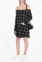 R 13 Plaid Shirt Dress