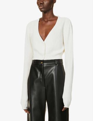 Aya Muse x Dani Michelle cropped cashmere cardigan