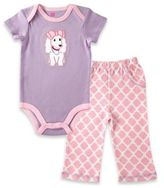 Baby Vision BabyVision® Hudson Baby Size 9-12M 2-Piece Puppy Bodysuit and Pant Set in Lavender/Pink