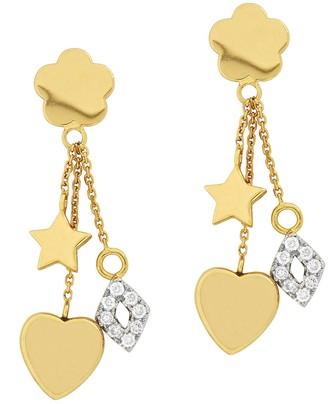 Affinity Diamond Jewelry Affinity 14K 1/5 cttw Diamond Motif Charm Dangle Earrings