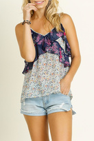 Umgee USA Mint Floral Tank Top
