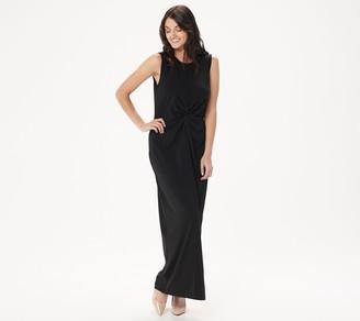 BROOKE SHIELDS Timeless Regular Sleeveless Maxi Dress w/ Twist