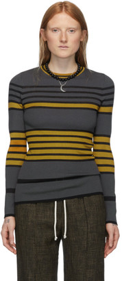 M Missoni Multicolor Oversized Striped Crewneck Sweater