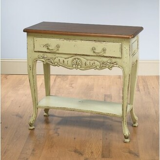 "Ophelia & Co. Colebrook 35"" Solid Wood Console Table Color: Distressed Parchment"