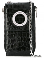Alexander Wang Riot Crocodile-Embossed Shoulder Wallet