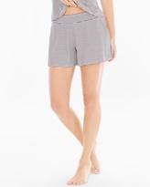 Soma Intimates Cool Nights Full Tap Pajama Shorts Infinite Stripe Ivory