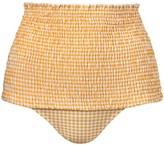 Thumbnail for your product : VERDELIMON Nilo Smocked High Waist Bikini Bottoms