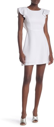BCBGeneration Ruffle Cap Sleeve Mini Dress